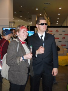 Female 11th Doctor and an MIB agent.