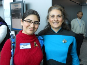 Expendable redshirt and Deanna Troi.